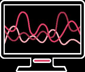 monitor com frequências